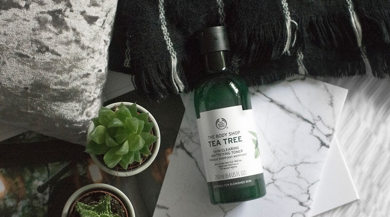 review toner tea three của the body shop Việt Nam